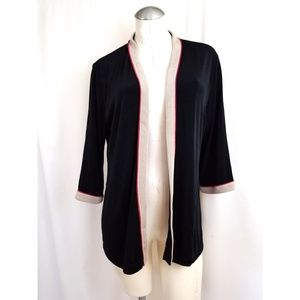 Chico's Travelers Size 2 L Open Cardigan